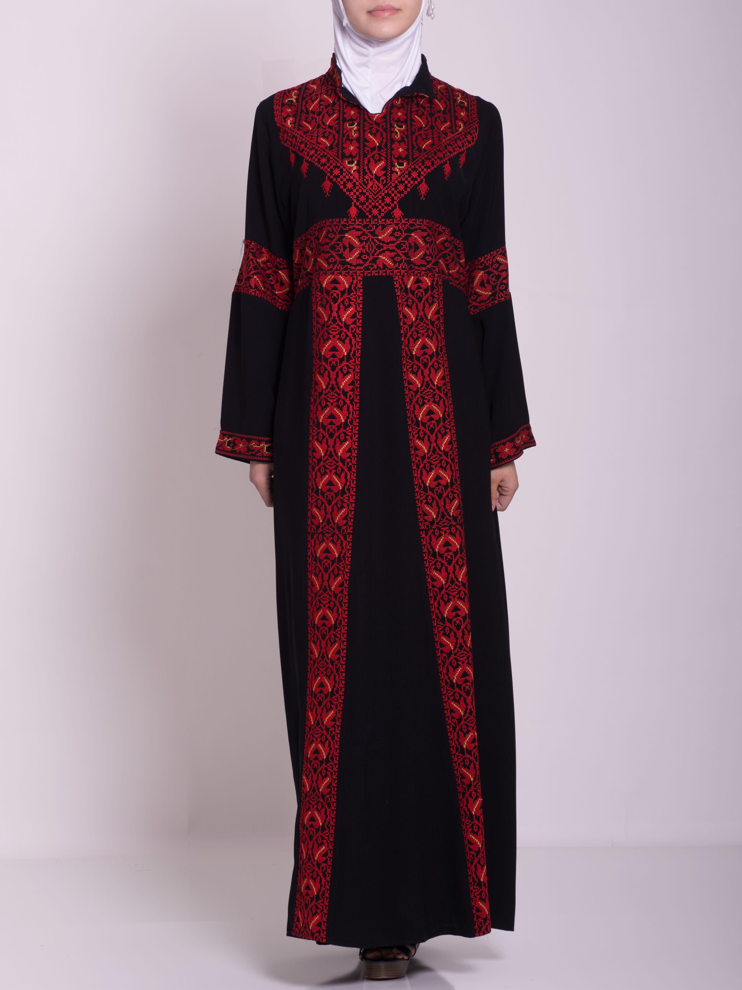 Zainab Embroidered Palestinian Fellaha Dress th760 (11)