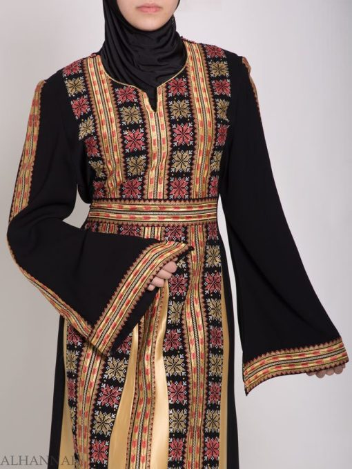 Zaynah Embroidered Palestinian Fellaha Thobe th769 (6)