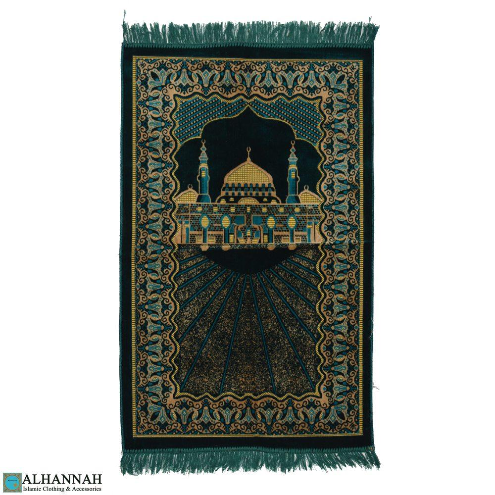 Jerusalem Prayer Rug: Prophet's Mosque Motif II1104