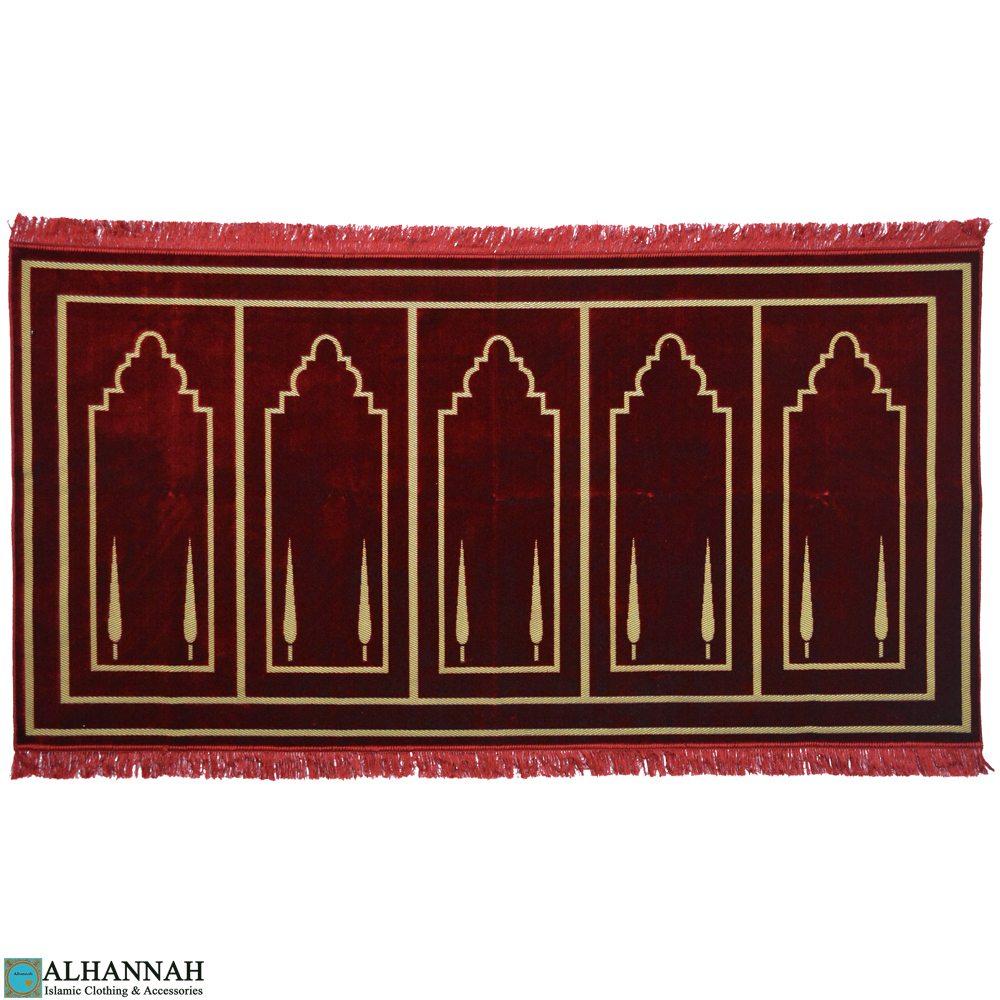 prayer rug 5 person red Turkish ii1122