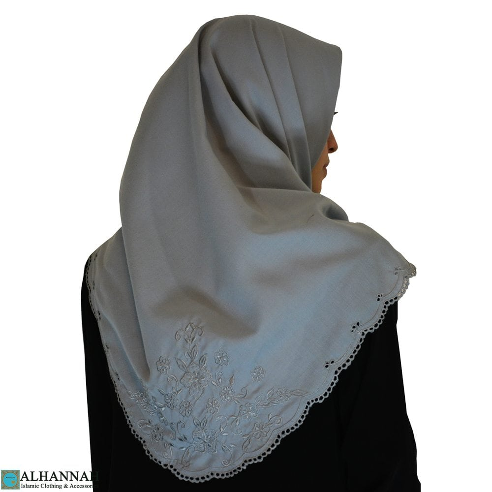 Embroidered Cotton Hijab