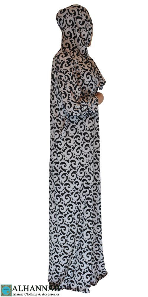 Prayer outfit 1 piece black & white print