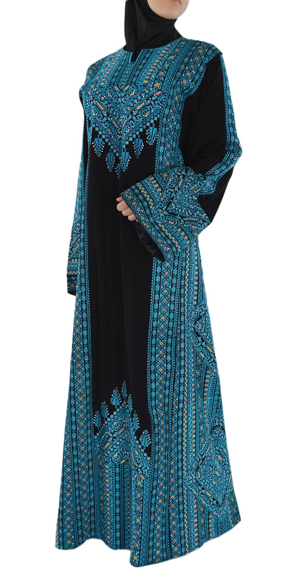 Blue Fallah Dress Side Shot