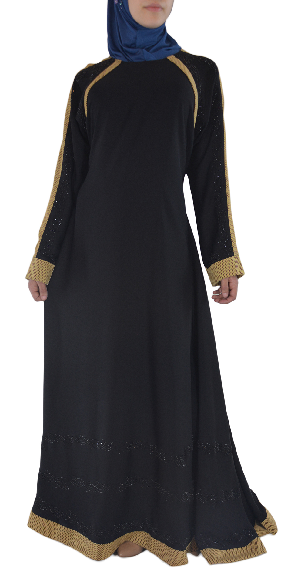 Shirin - Black and Tan Abaya Spread