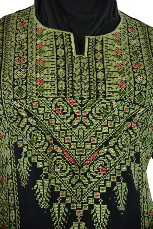 Emerald Falleh Dress Front Shot Closeup Zoom