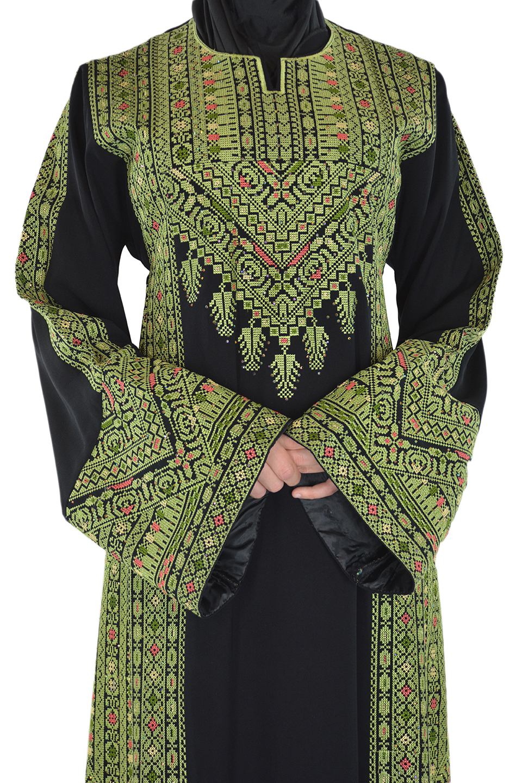 Emerald Falleh Dress Front Shot Closeup
