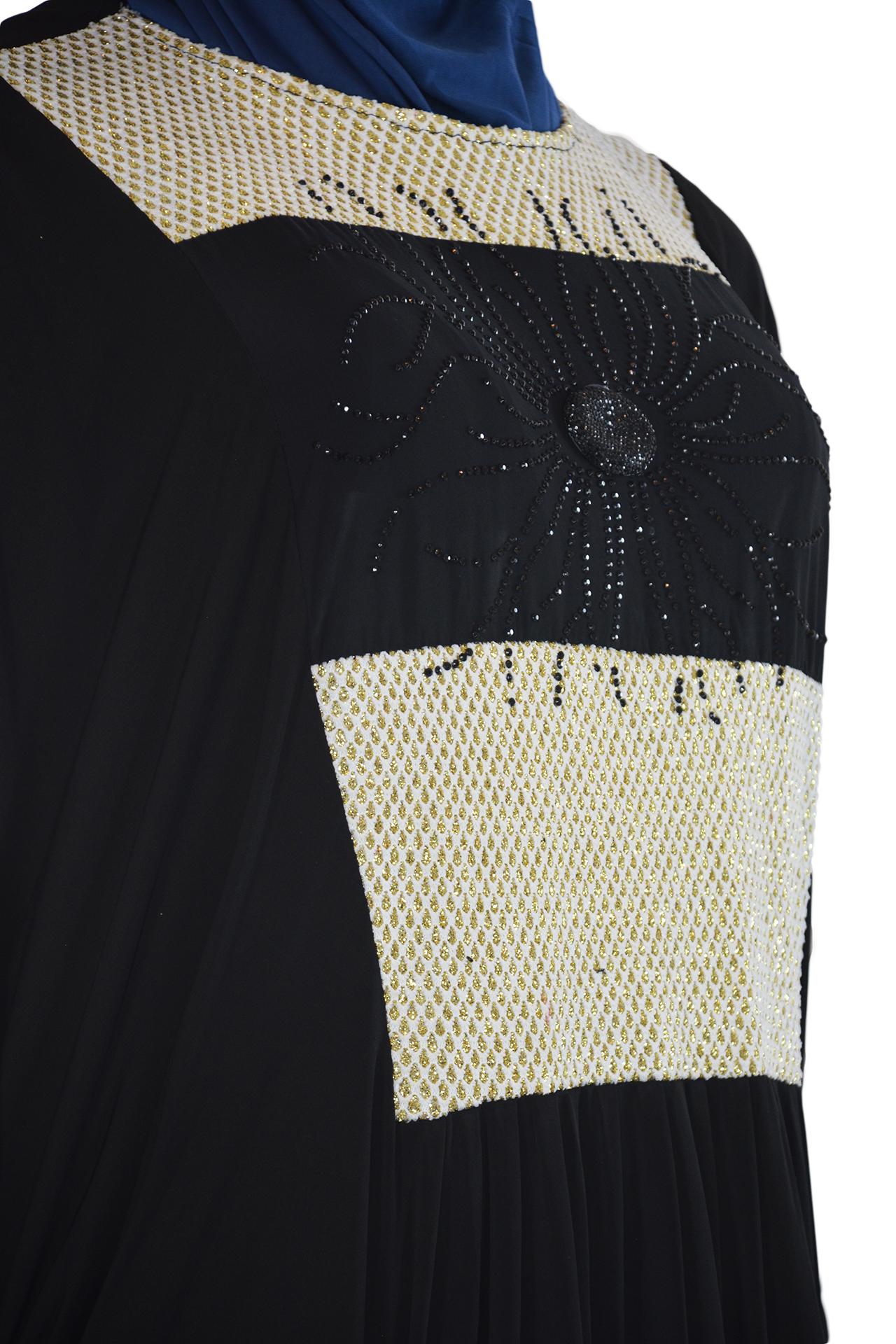 Nazli - Honeycomb Draping Abaya Close up 2