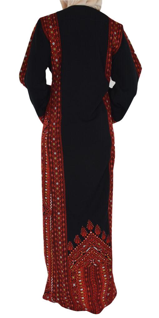 Red Fellah Dress Back