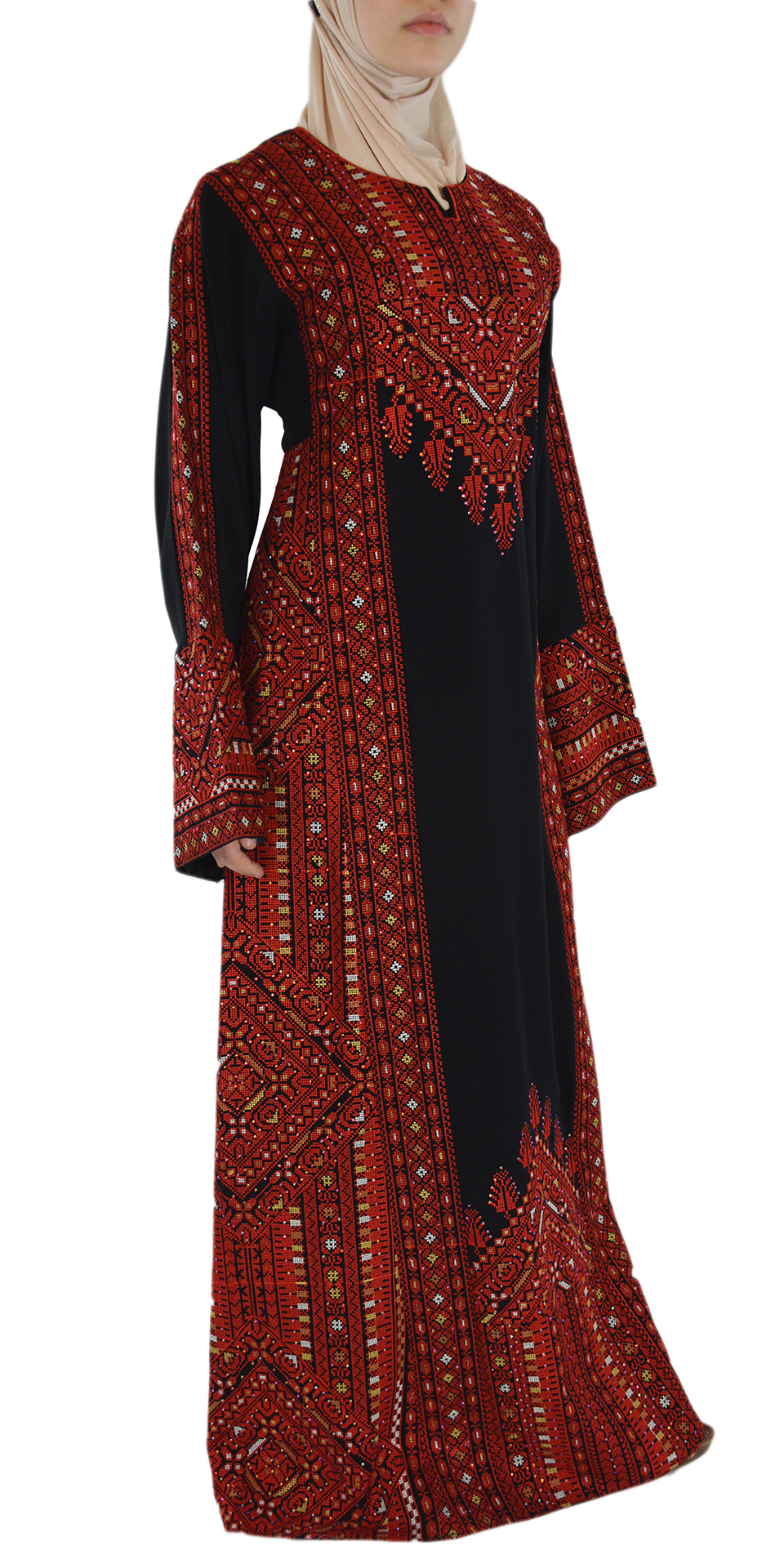 Red Fellah Dress Side Shot