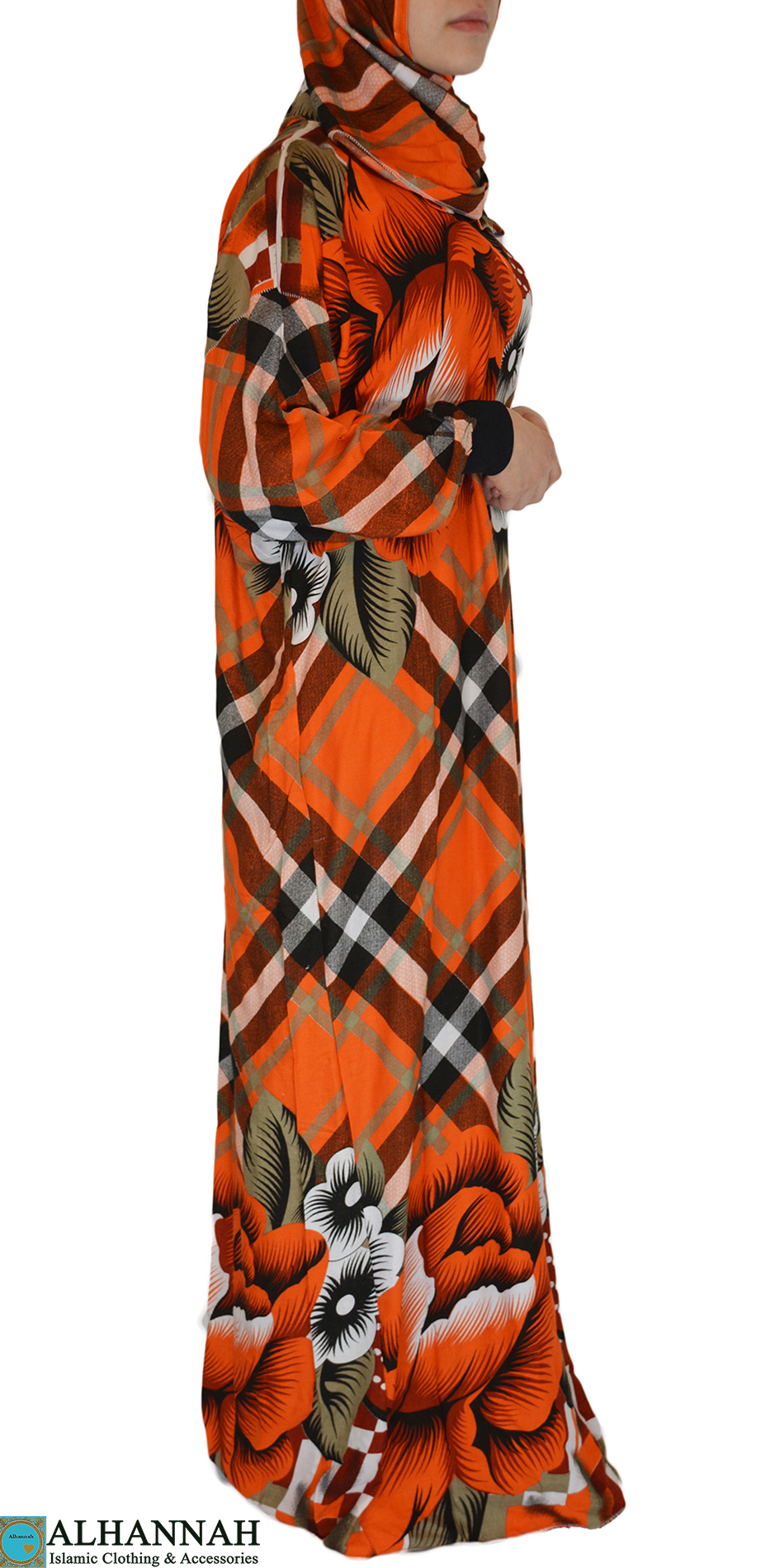 Tangerine Tropical floral print Prayer Outfit 2
