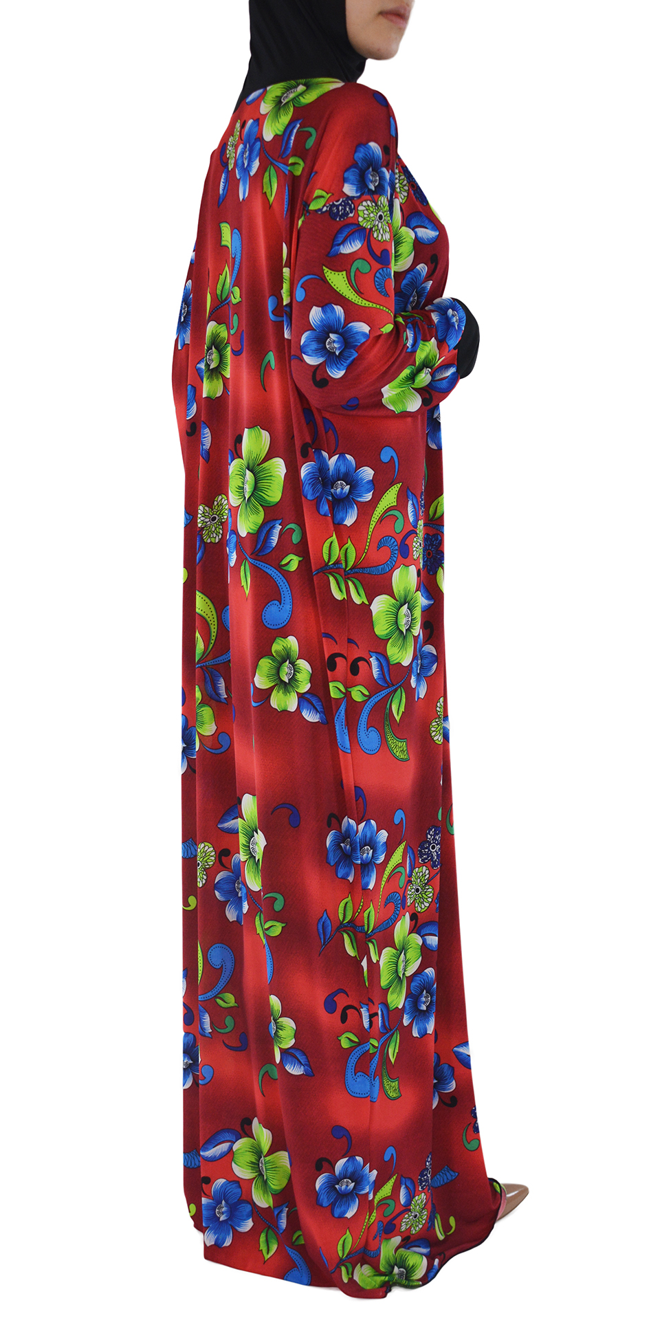Floral Clovers Red and Green/Blue Print 3