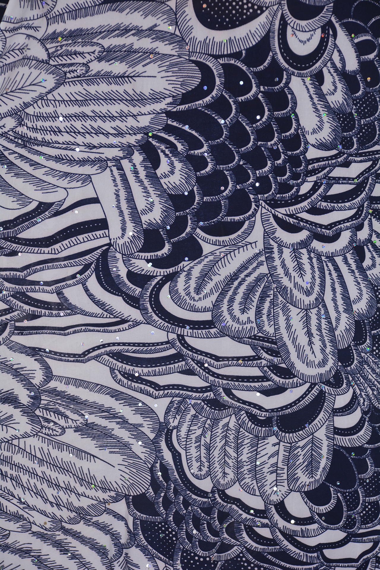 Abstract Feathers and Scales Sparkles Print 3