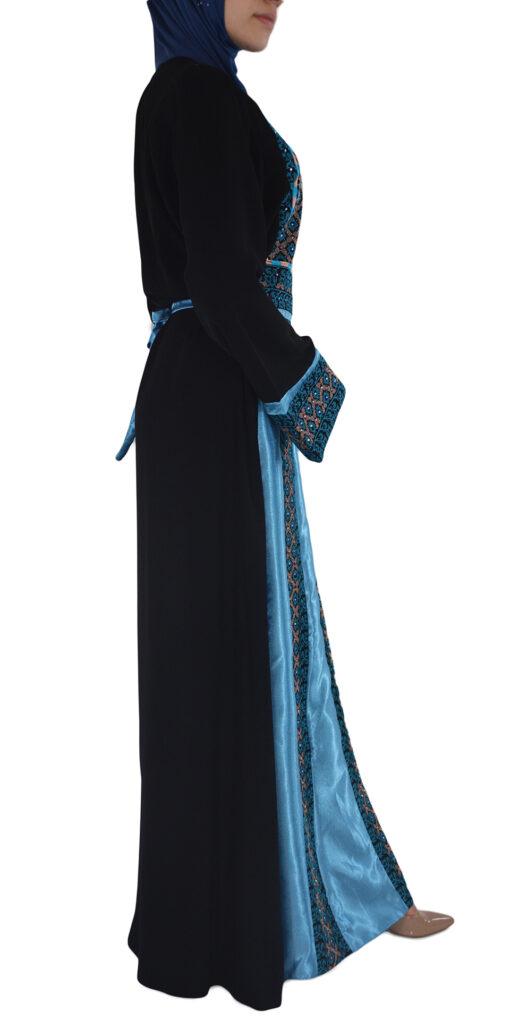 Blue-Diamond Embroidered Ghaniyah Thobe TH782 1
