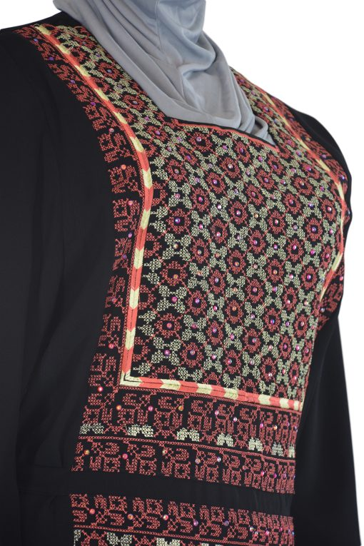 Coral Embroidered Ghaniyah Thobe TH781 1