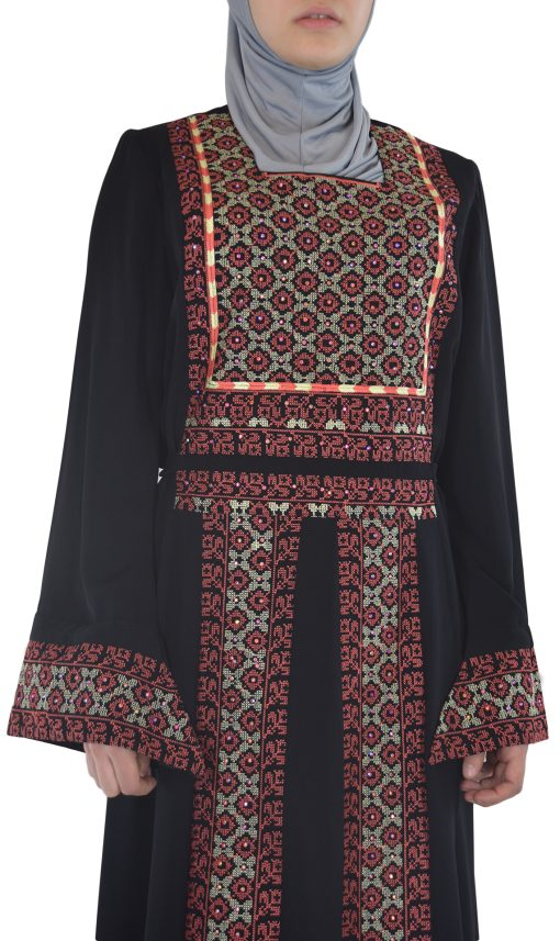 Coral Embroidered Ghaniyah Thobe TH781 2