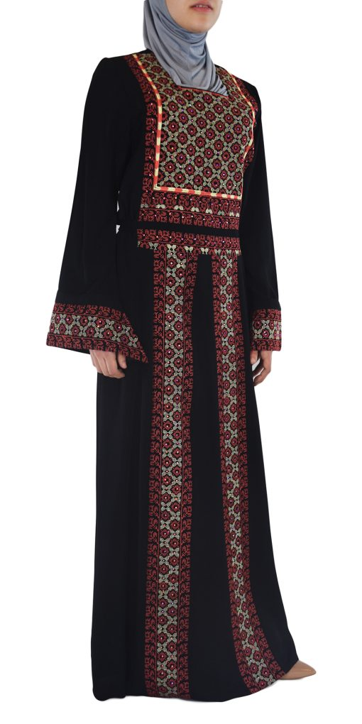 Coral Embroidered Ghaniyah Thobe TH781 5