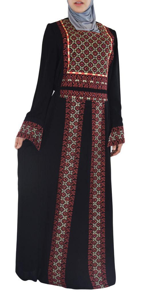 Coral Embroidered Ghaniyah Thobe TH781