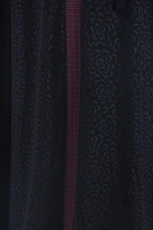 Denim Begonia Abaya - Full Length Zipper ab690 (4)
