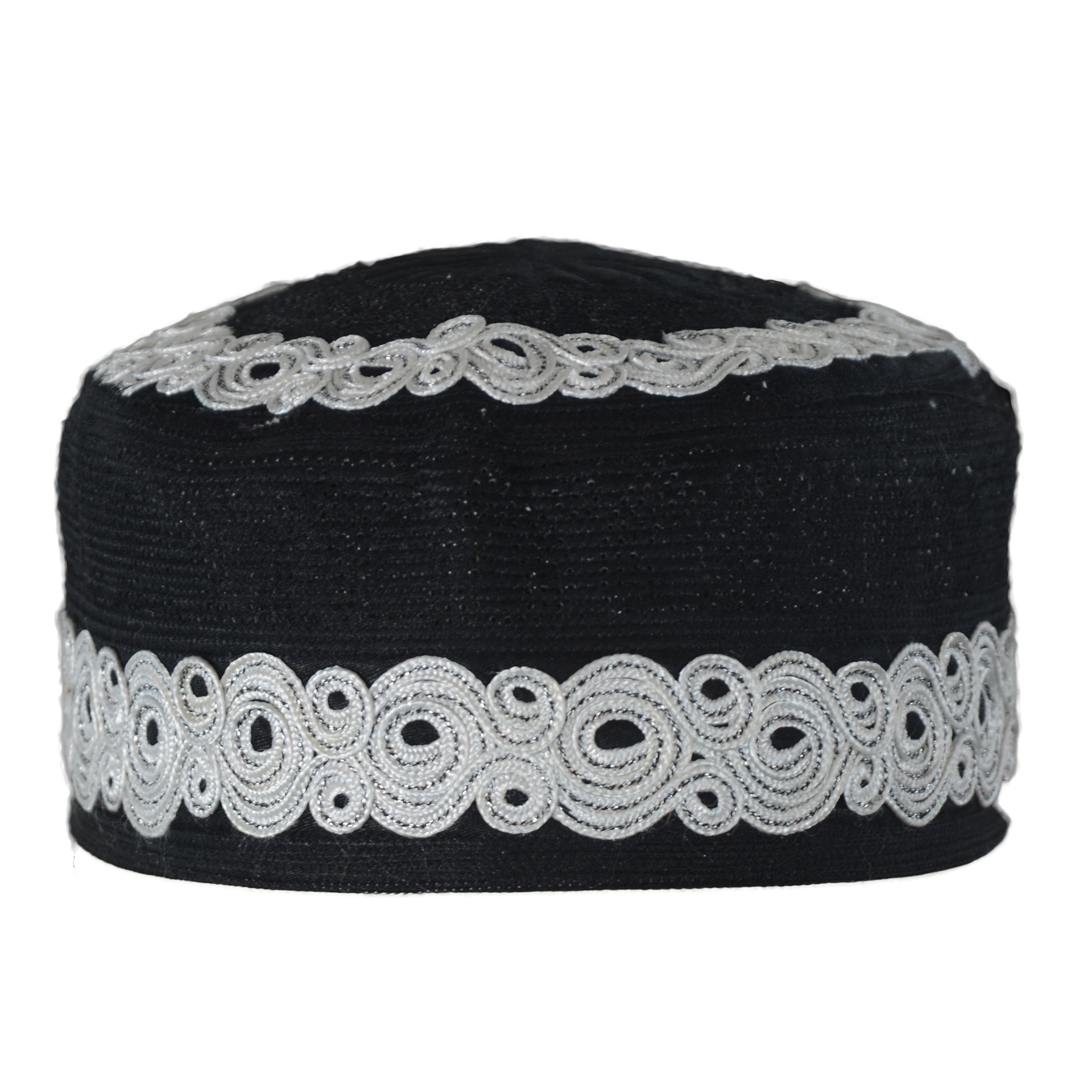 Mens Embroidered Kufi Hat Muslim Cap with Spirals and Mosque Dome Designs –  ME719 9c01170b803