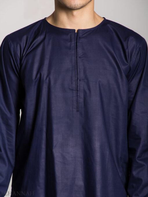 Men's Solid Color Kurta Shirt with Button up Front - Soft Cotton ME718 (2)