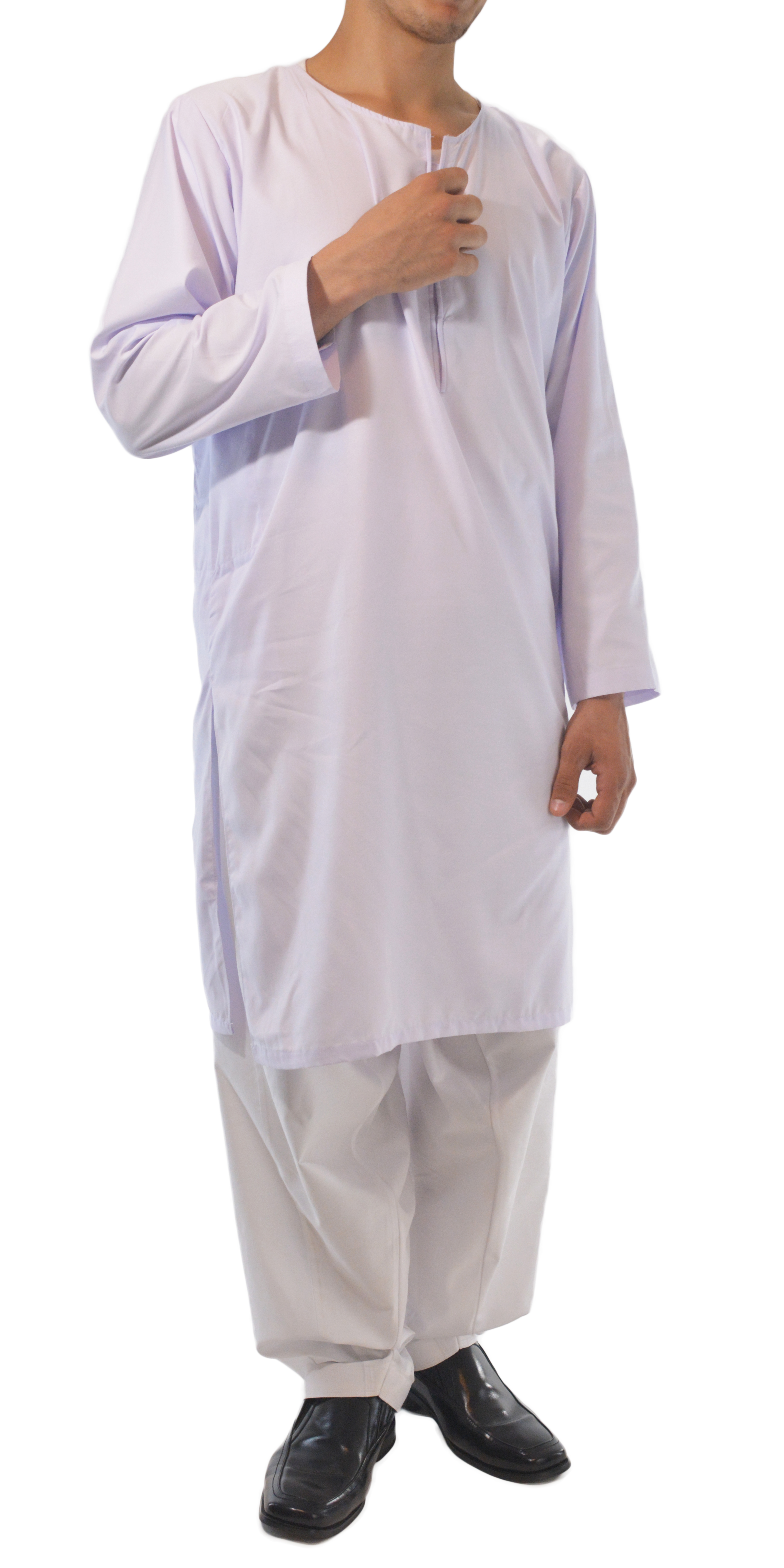 Men 39 s solid color kurta shirt with button up front soft for Solid color button up shirts