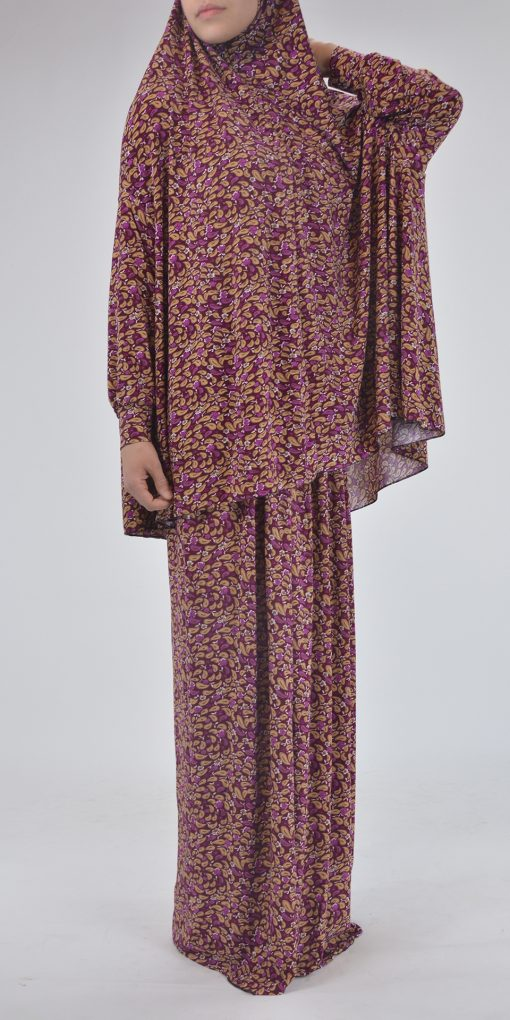 Paisley Petals - Two Piece Prayer Outfit Multicolored PS431 Red