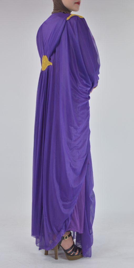 Premium Chiffon Embroidered Multi-Layer Abaya Multicolored ab693 2