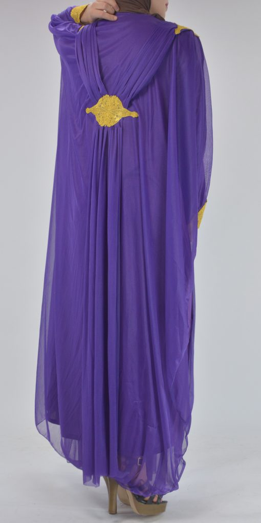 Premium Chiffon Embroidered Multi-Layer Abaya Multicolored ab693 (2)