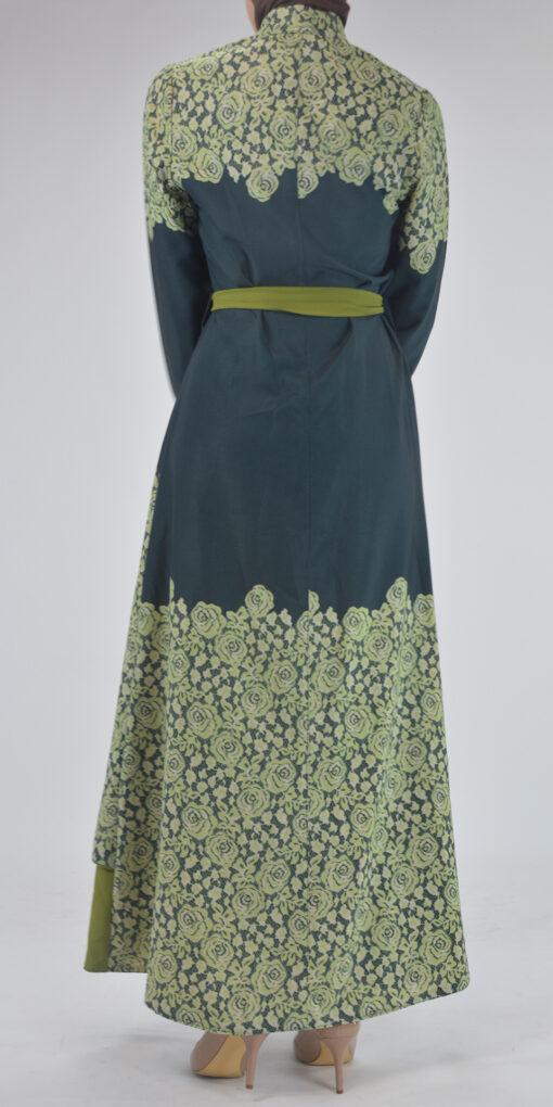Sabra Spring Bloom Abaya - Full Length Zipper ab688 3