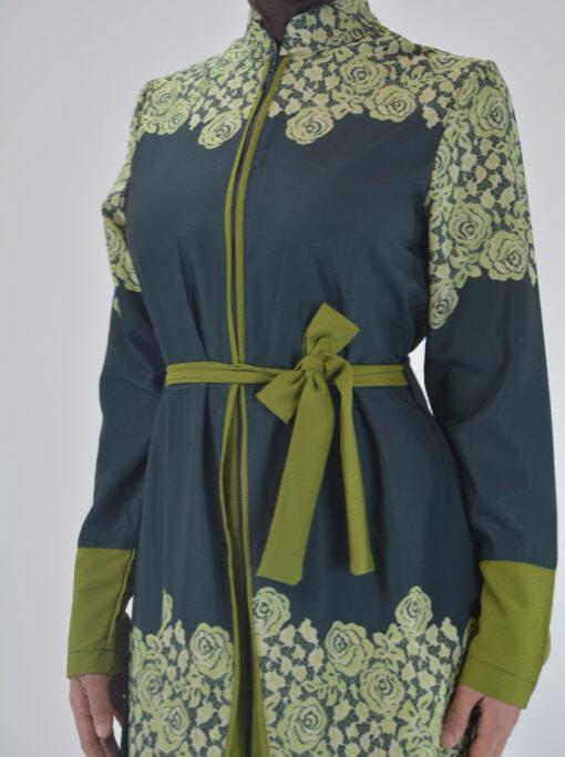 Sabra Spring Bloom Abaya - Full Length Zipper ab688 4