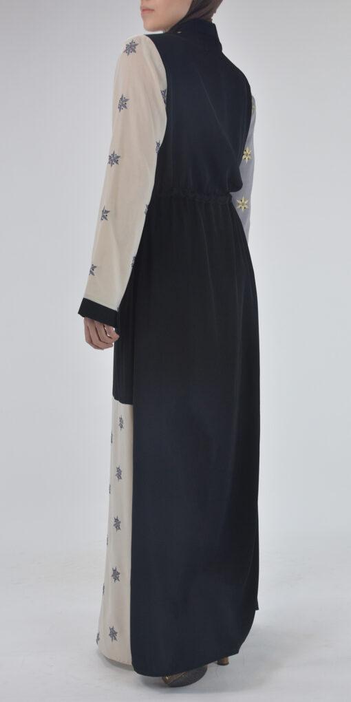 Starflower Rhinestone Abaya - Full Length Zipper ab691 (2)
