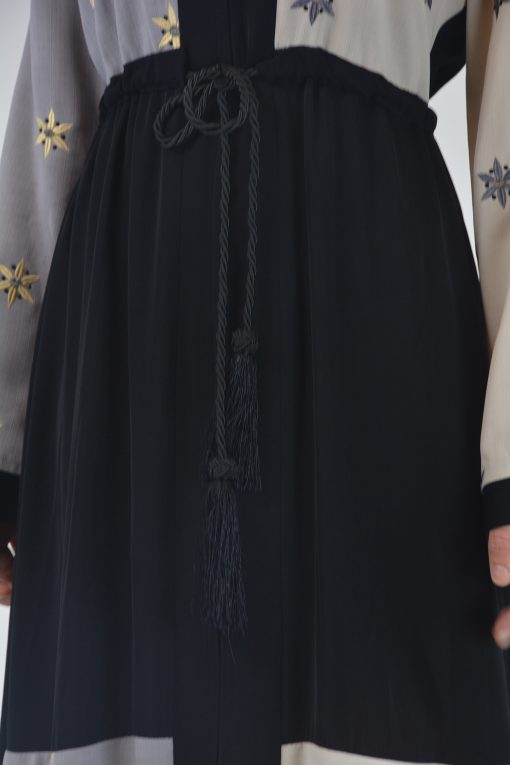 Starflower Rhinestone Abaya - Full Length Zipper ab691 (4)