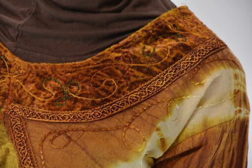 Tie-Dye Crushed Cotton Velvet Retro 70s Salwar Kameez5