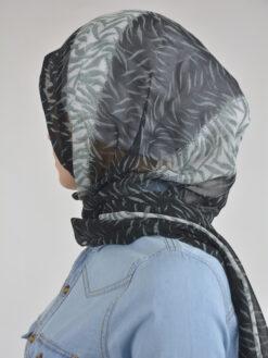 Abstract Tiger Shayla Wrap Hijab Hi2114 Black & White