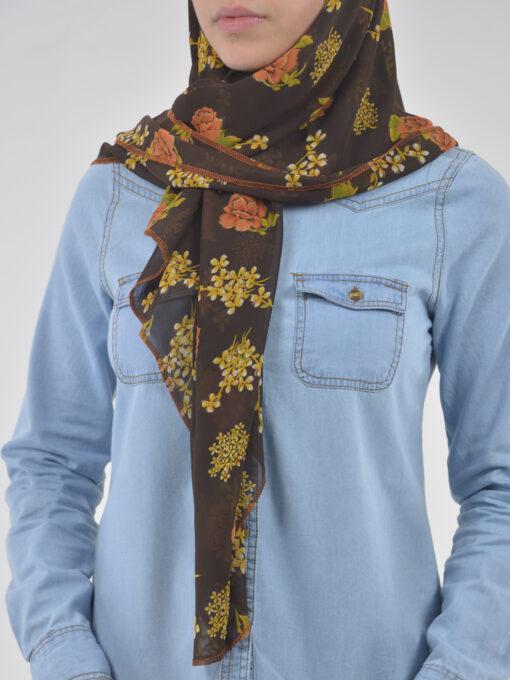 Autumn Rose Square Hijab HI2124 (1)