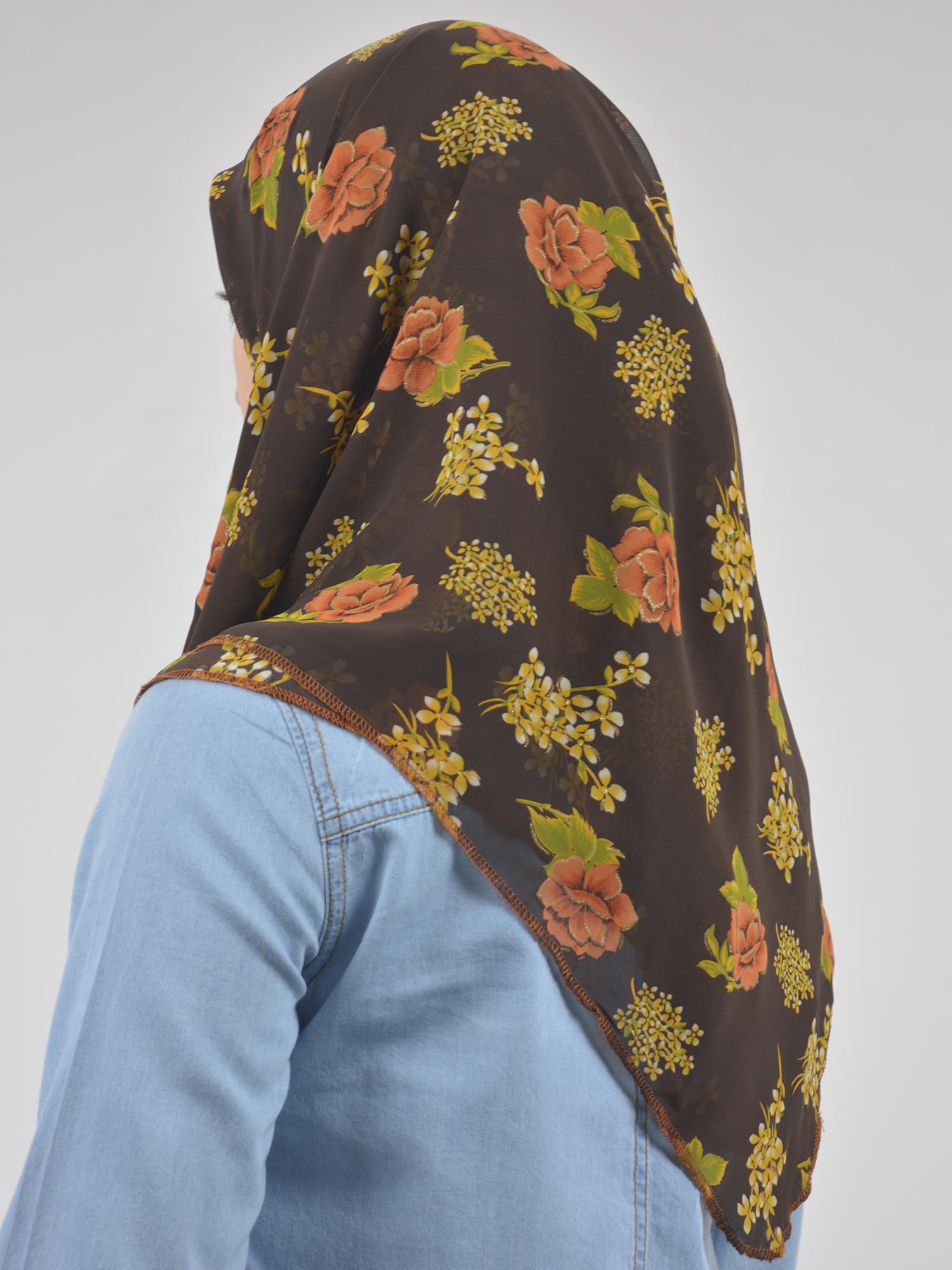 Autumn Rose Square Hijab HI2124 (2)