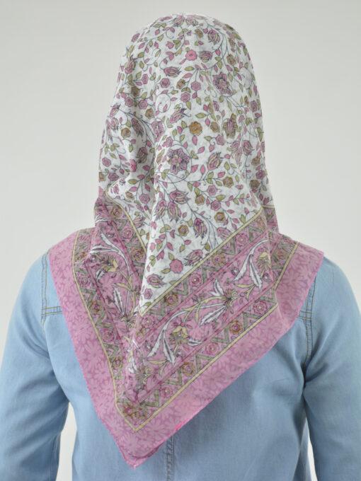 Blooming Vines Print Square Hijab HI2128 (3)
