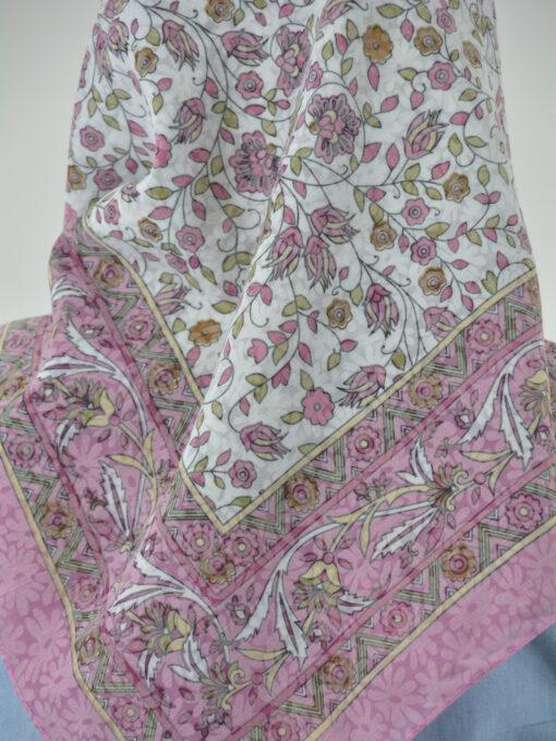Blooming Vines Print Square Hijab HI2128 (4)