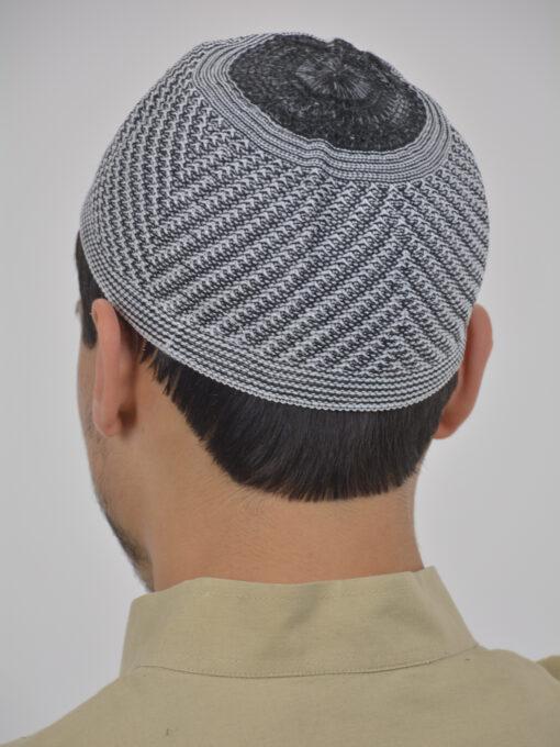 Classic Gray Knit Kufi ME740