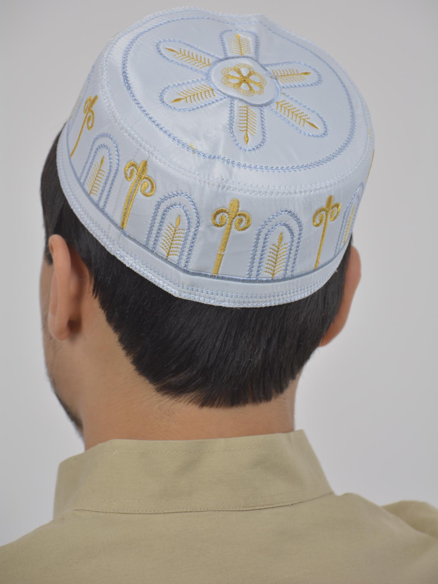Golden Arch Embroidered Taqiya Kufi   ME733