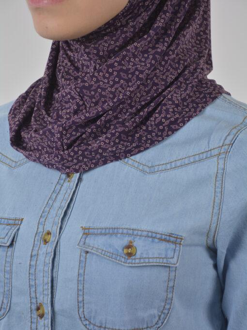 Elegant Diamond Print Two Piece Al-Amira Hijab HI2107 (3)