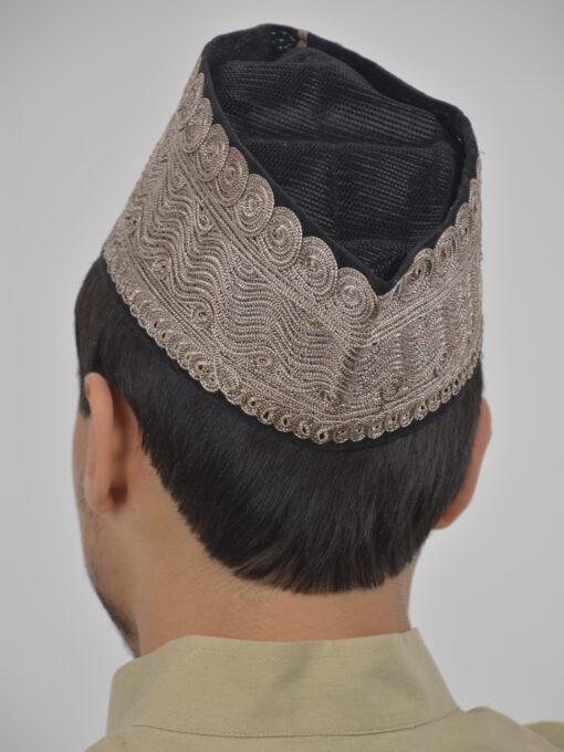 Embroidered Swirls Mesh Kufi ME739 (2)