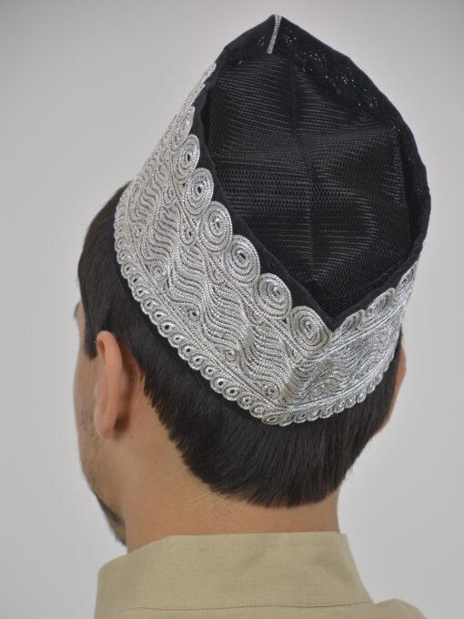 Embroidered Swirls Mesh Kufi ME739 (3)