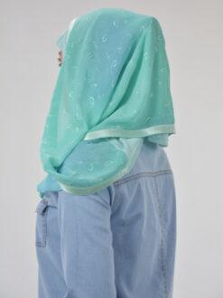 Floral Loops Twister-Kuwaiti-Wrap Hijab HI2112 (1)