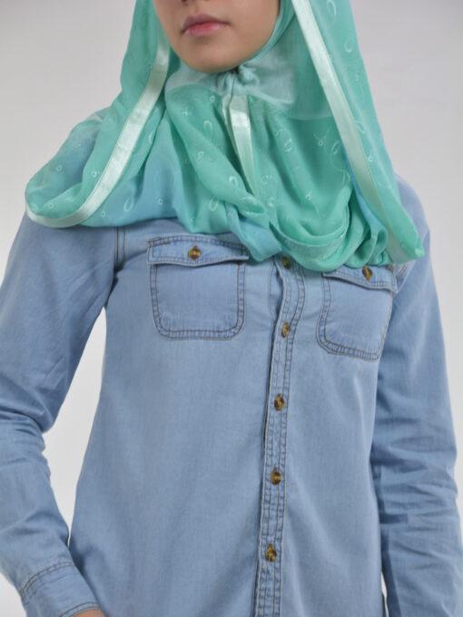 Floral Loops Twister-Kuwaiti-Wrap Hijab HI2112 (6)