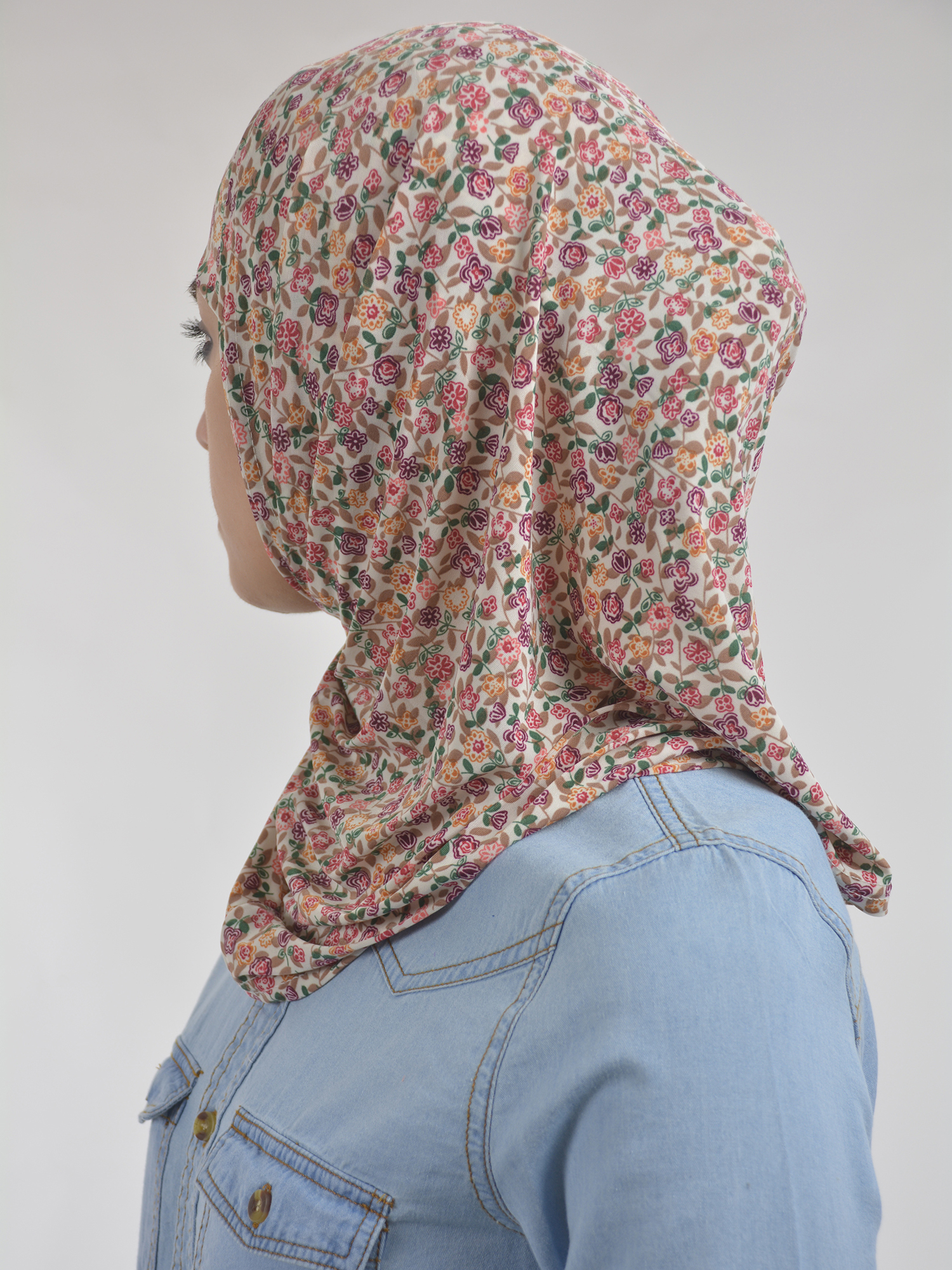 Floral Petals Print Two Piece Al-Amira Hijab HI2108 (1)