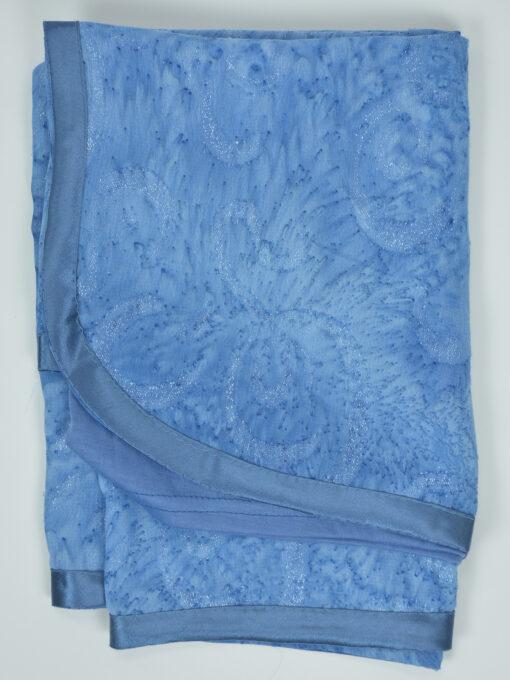 Glitter Swirls Round Kuwaiti Wrap Hijab Blue