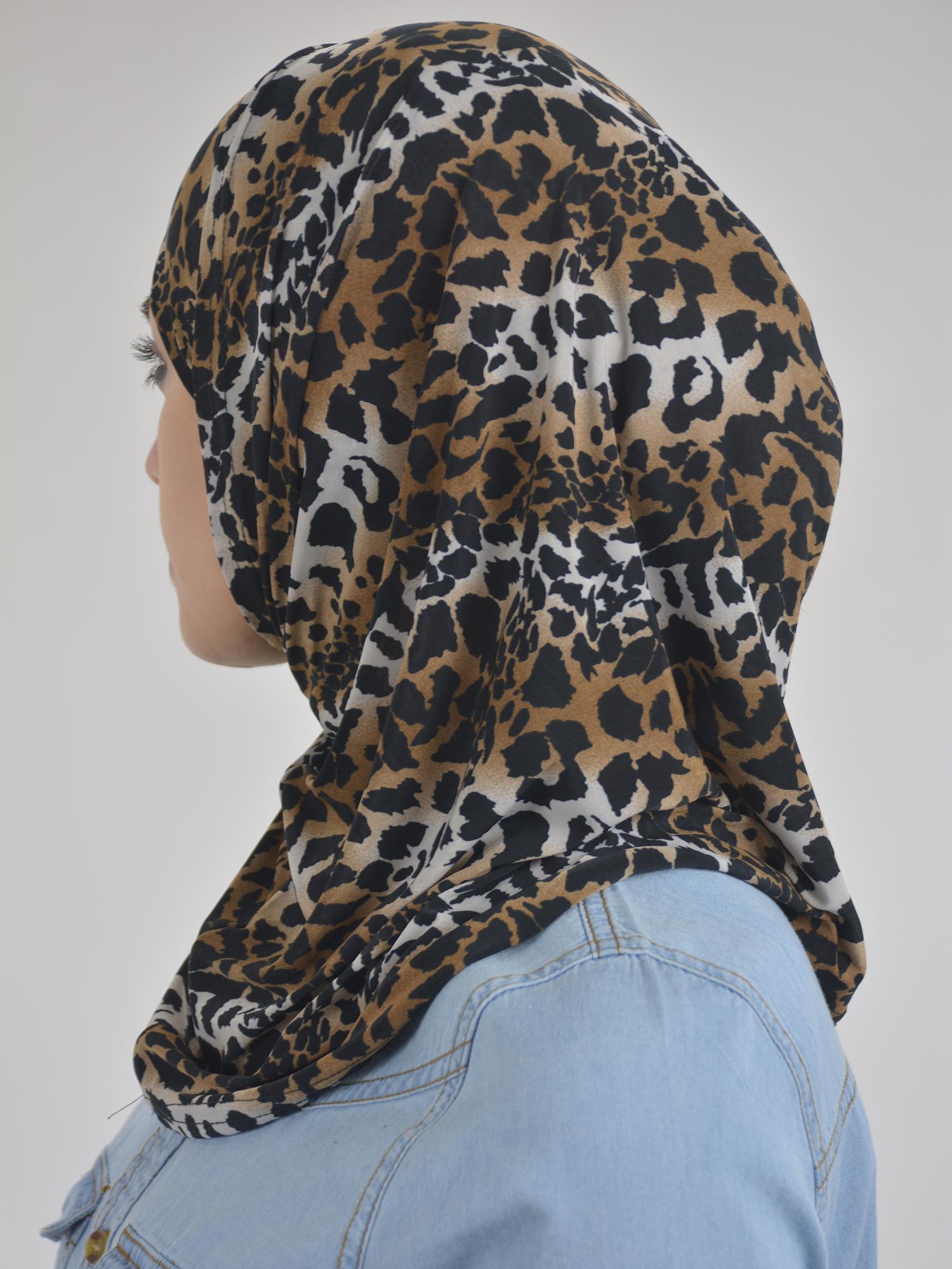 Leopard Print Two Piece Al-Amira Hijab HI2113 Brown