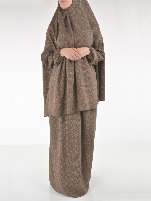 Moroccan Swirls Two Piece Prayer Outfit PS439 (4)