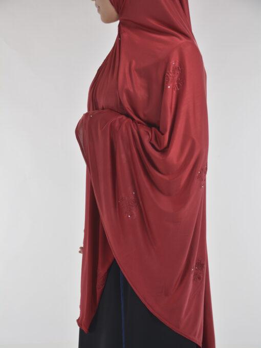Rhinestone Floral-Imprint Al-Amira KhimarHijab HI2106 (11)
